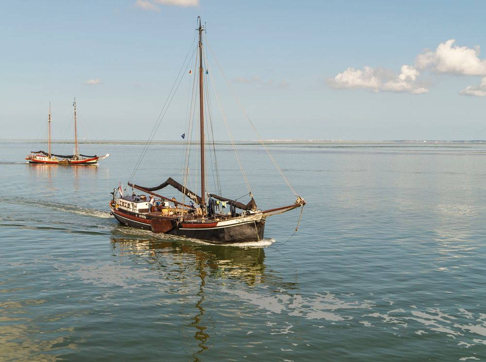 Photo in Travel #dutch barge #waddenzee #wadden sea #klipper #sailingcharter #built in / bouwjaar 1892