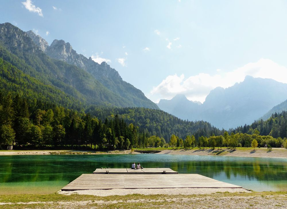 Photo in Landscape #nature #romantic #valley #mountain #hill #lake #landscape #slovenia #green #summer #spring