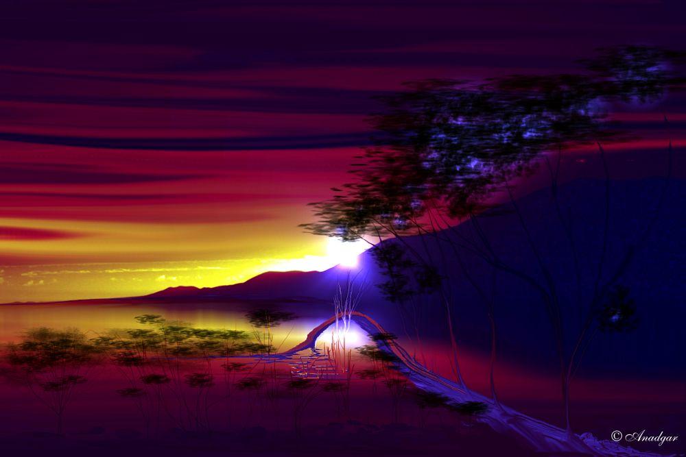 Photo in Fine Art #anadgar #paisaje mistico #atardecer