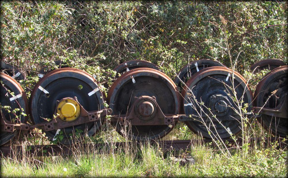 Photo in Random #trains #wheels #rust #ageing #heritage #history #somerset