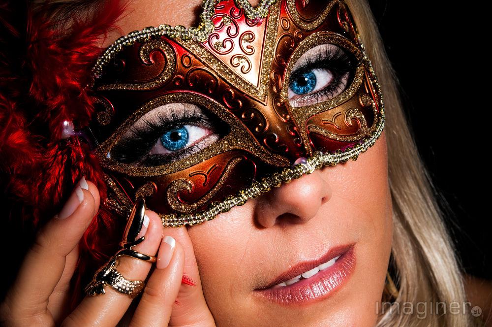 Photo in Portrait #mask #blue eyes