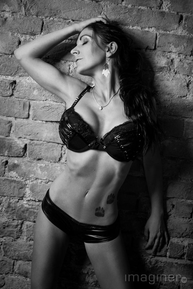 Photo in Black and White #cellar #black and white #black #model #fitness #sexy #girl