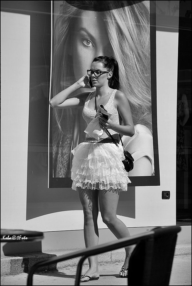 Photo in Black and White #c/w #glamour #still life #women #street