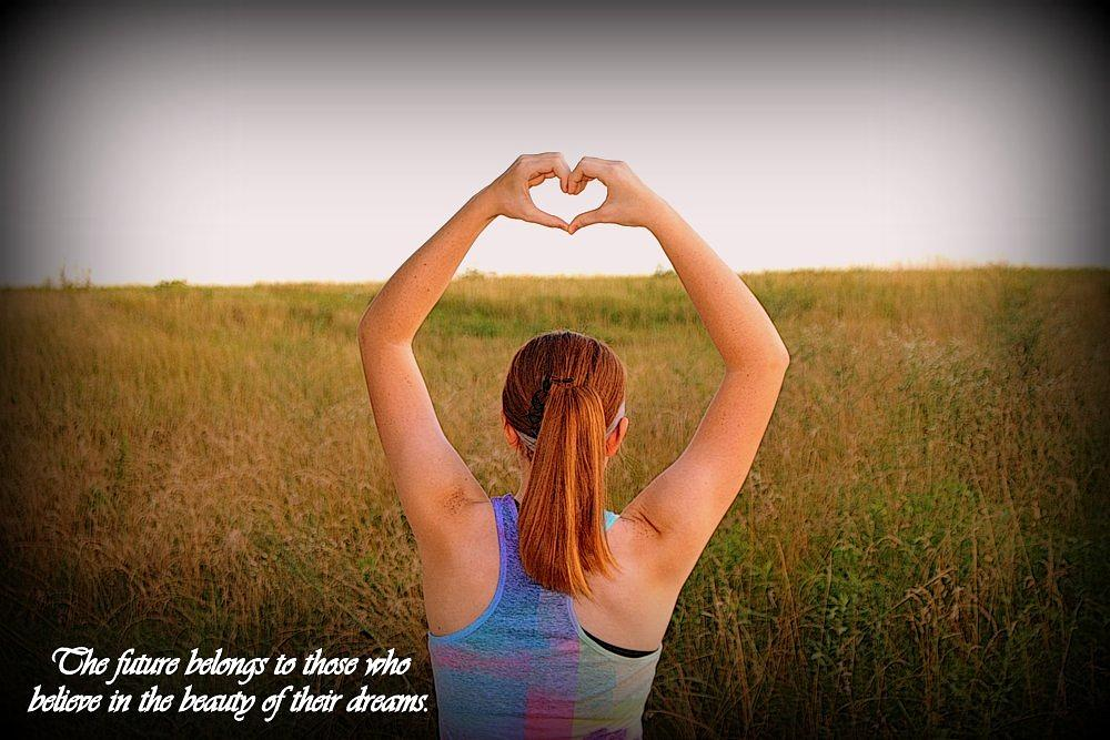 Photo in Random #heart #sunset #love #girl #redhair #pretty #quote #dreams #quotes