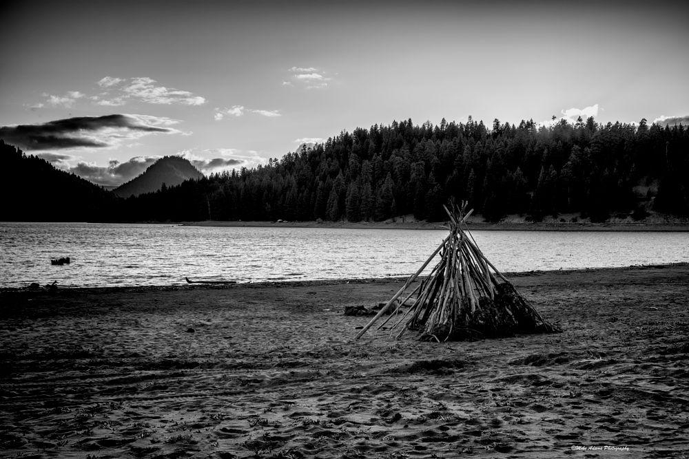 Photo in Landscape #b&w #lake #beach