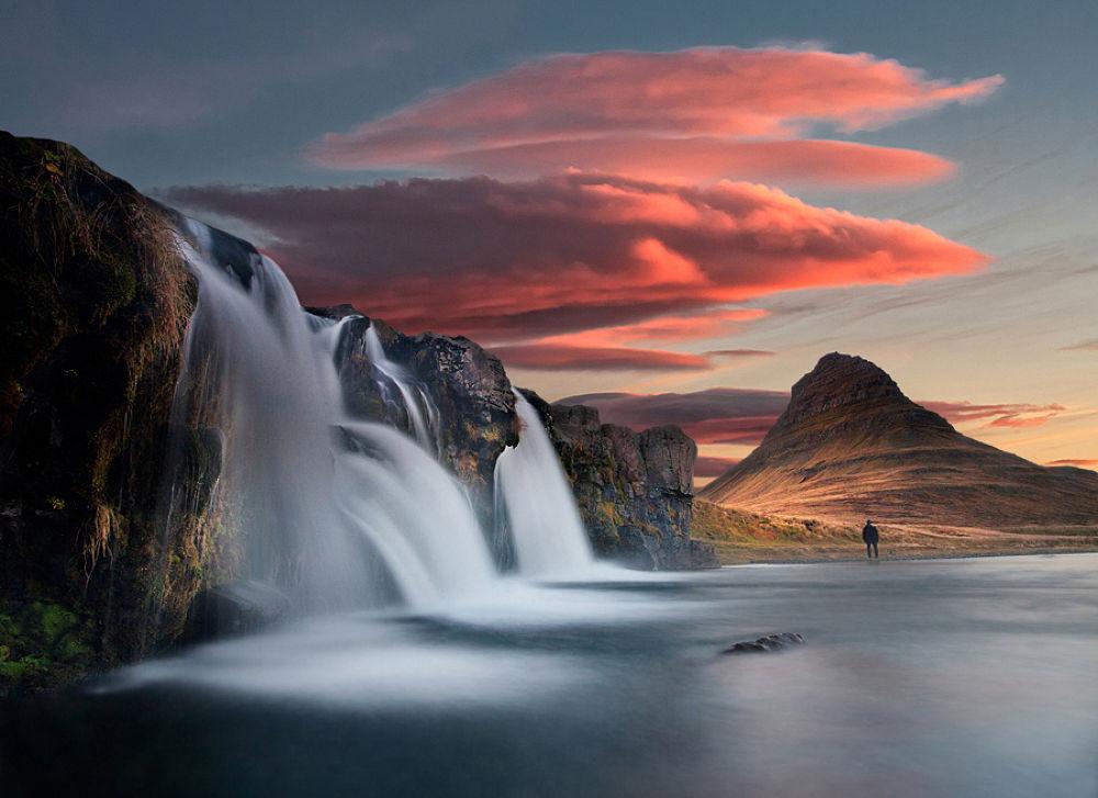 Photo in Landscape #waterfall #kirkjufellsfoss #kirkjufell #landscape #nature #sky #clouds #iceland #structor #ypa2013