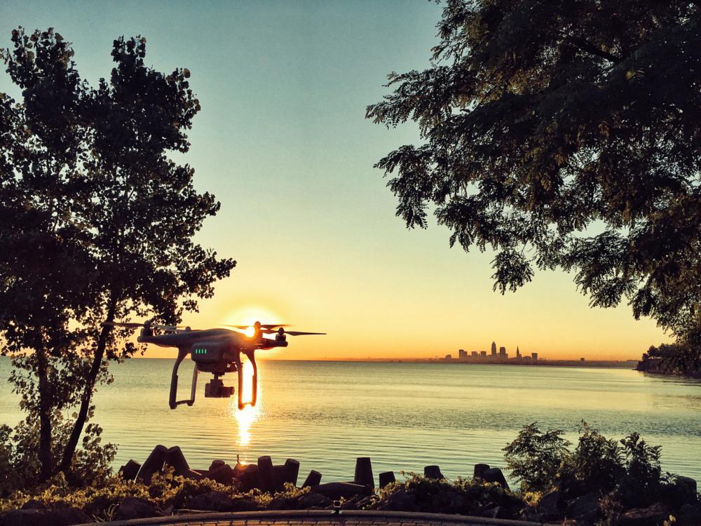 Photo in Landscape #dji #phantom #cleveland #aerials #drone #multirotor #sunrise #ohio #lakewood