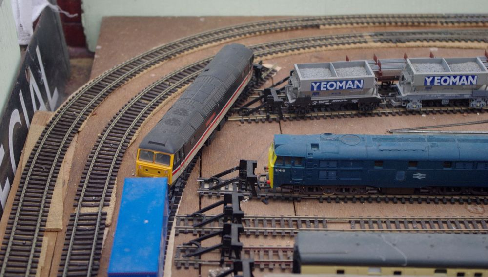 Photo in Interior #my model railway #oo gauge #outer curve #correction #extending #terminal stations #shunt siding