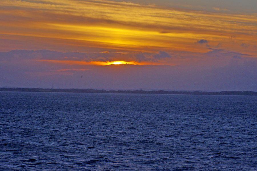 Photo in Travel #p&o cruise #liner 'aurora' #sunset #danish coast #st petersburg