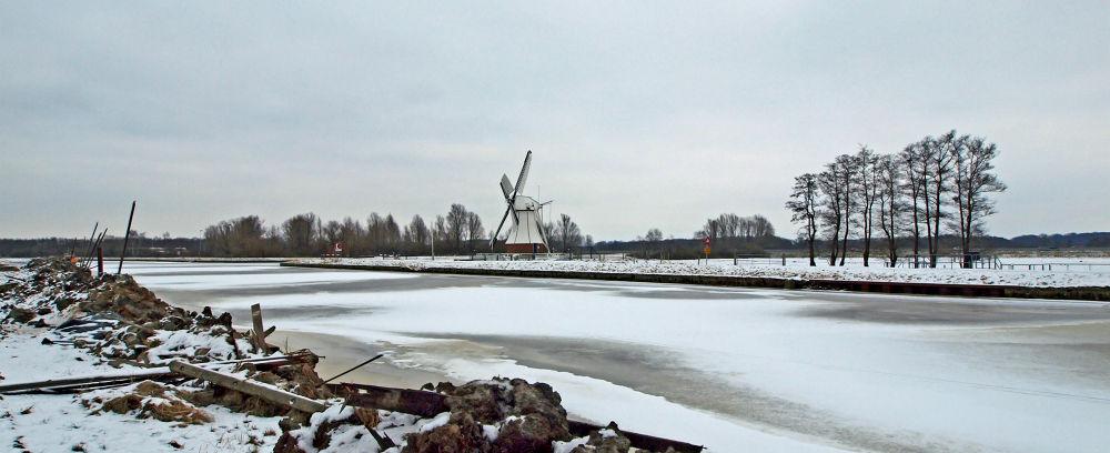Photo in Random #panorama #molen #de witte molen #gemeente glimmen haren #provincie groningen #winter #snow #sneeuw #cold #ice #freezing #olympus