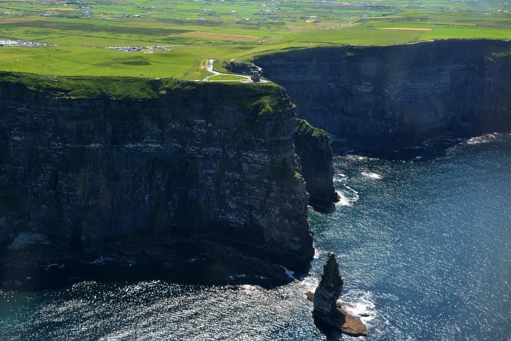 Photo in Landscape #clifs of moher #ireland #clifs #rock #ocean