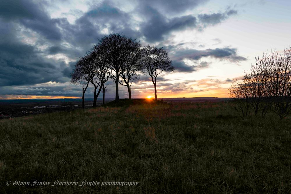 Photo in Landscape #golden hour #copt hill #uk #sunset #clouds #trees