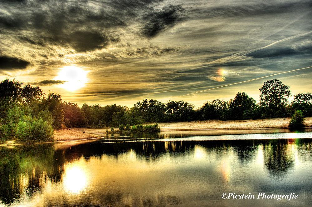 Photo in Landscape #sun #sunset #sea #lake #water #wasser #abend #evening #light #licht #ypa2013 #landscape #nature #germany