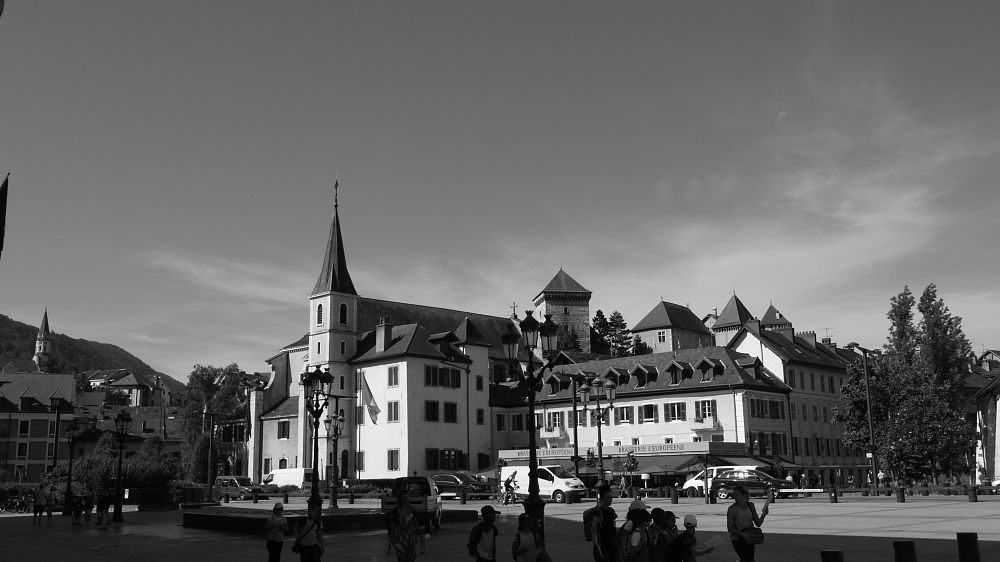 Photo in Black and White #annecy #city #black and white