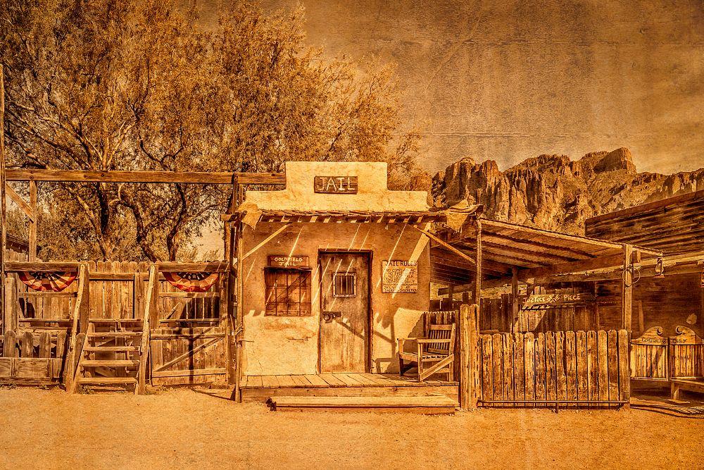 Photo in Fine Art #jail #west #western #cowboys #gallows #mountain #arizona