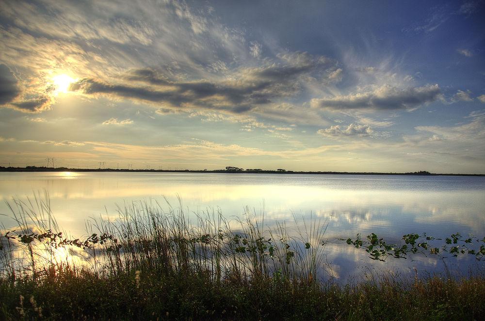 Photo in Random #sunset over the everglades.