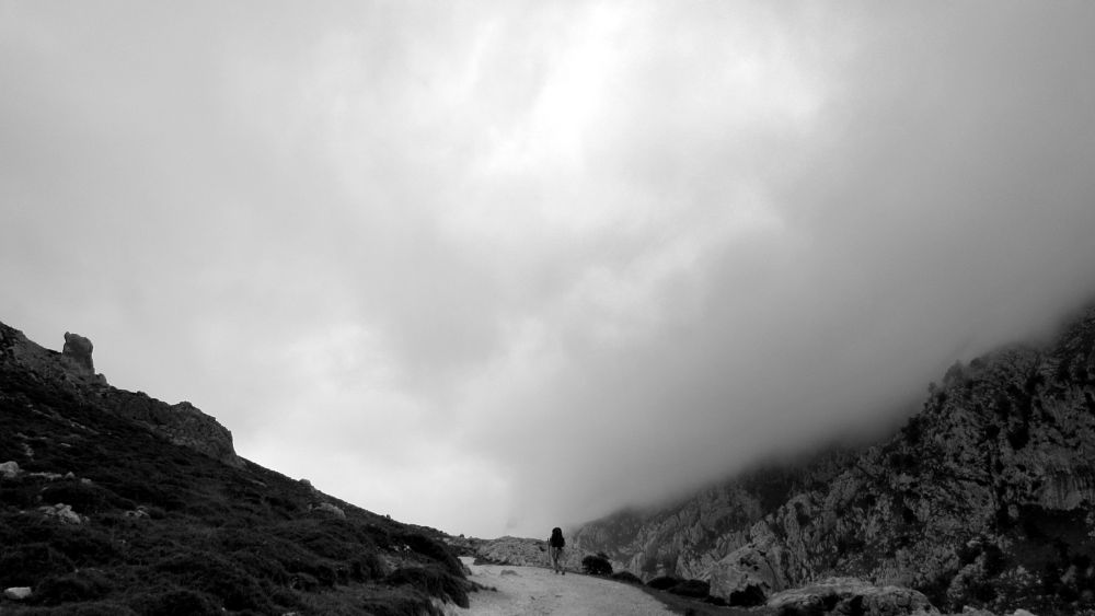 Photo in Black and White #way #spain #asturias #canon