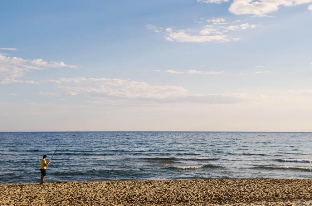 Photo in Sea and Sand #fishing #sea #beach #water #sky #seascape