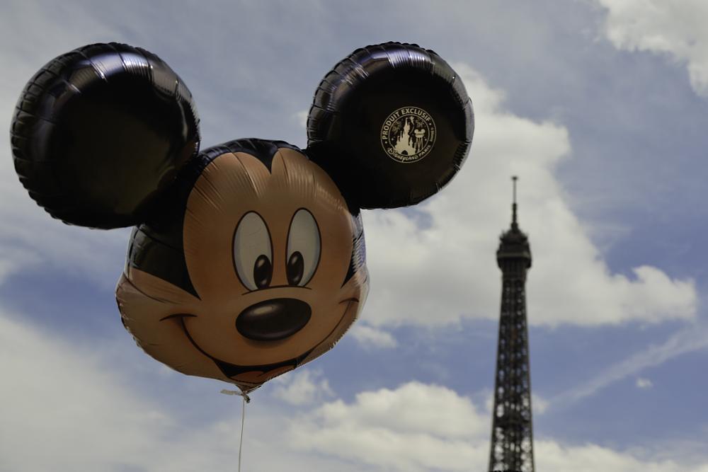 Photo in Fine Art #mickey #eiffel tower #paris