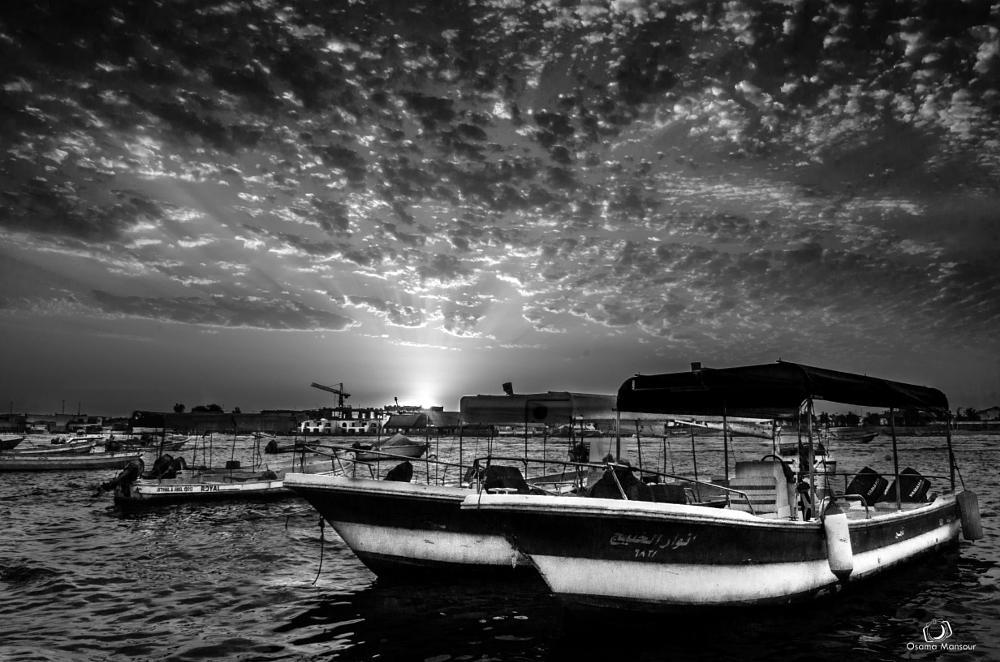 Photo in Black and White #marina #landscape #b&w #photo