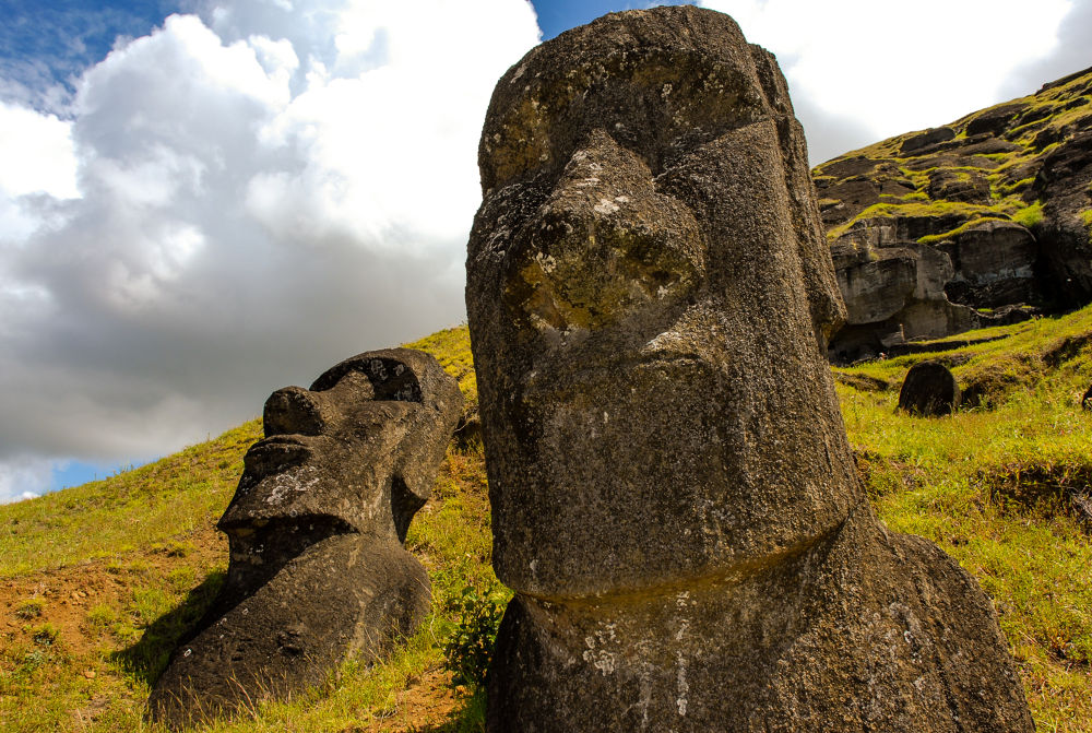 Photo in Landscape #easter island #statues #island #chile