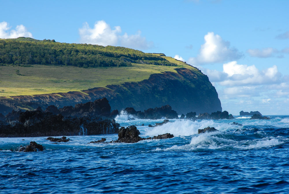 Photo in Nature #easter island #island #sea #blue #chille