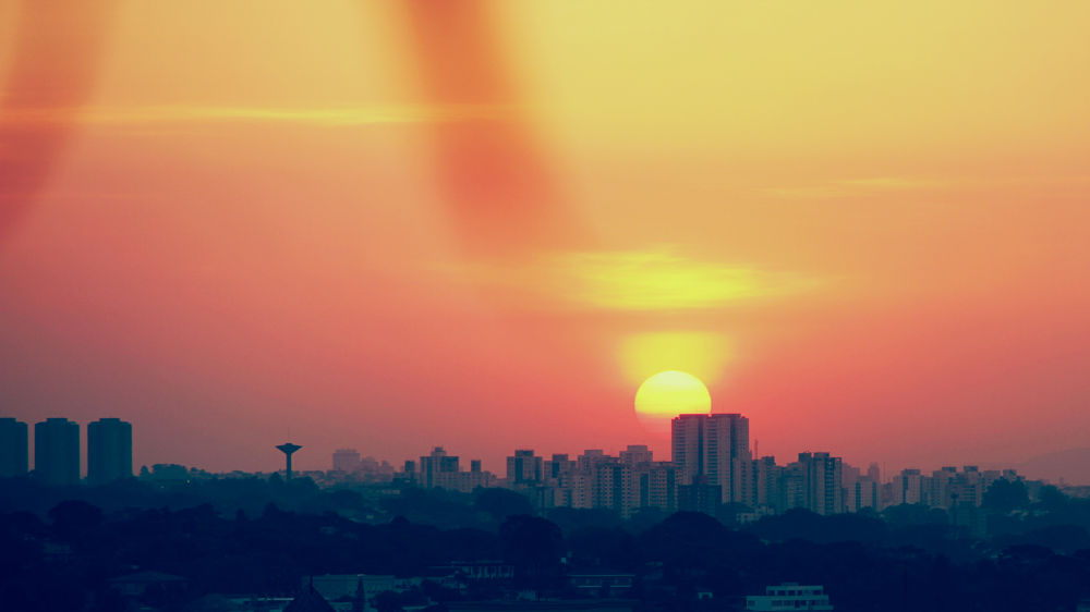 Photo in Landscape #sunset #saopaulo #sp #brazil #landscape