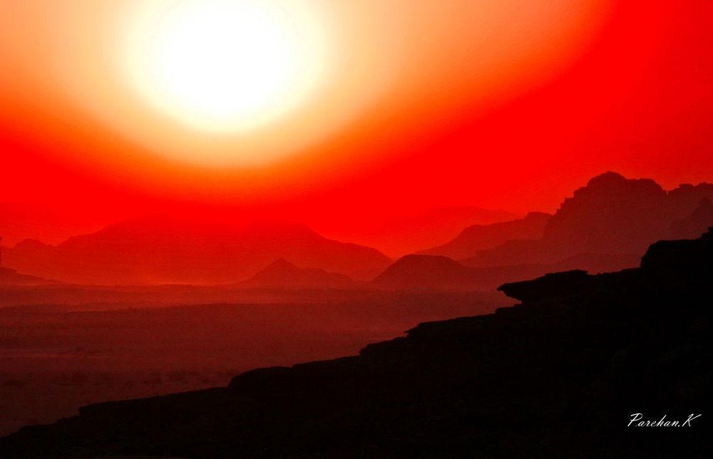 Photo in Random #parehan #parehank #wadi rum #jordan #sunset #desert
