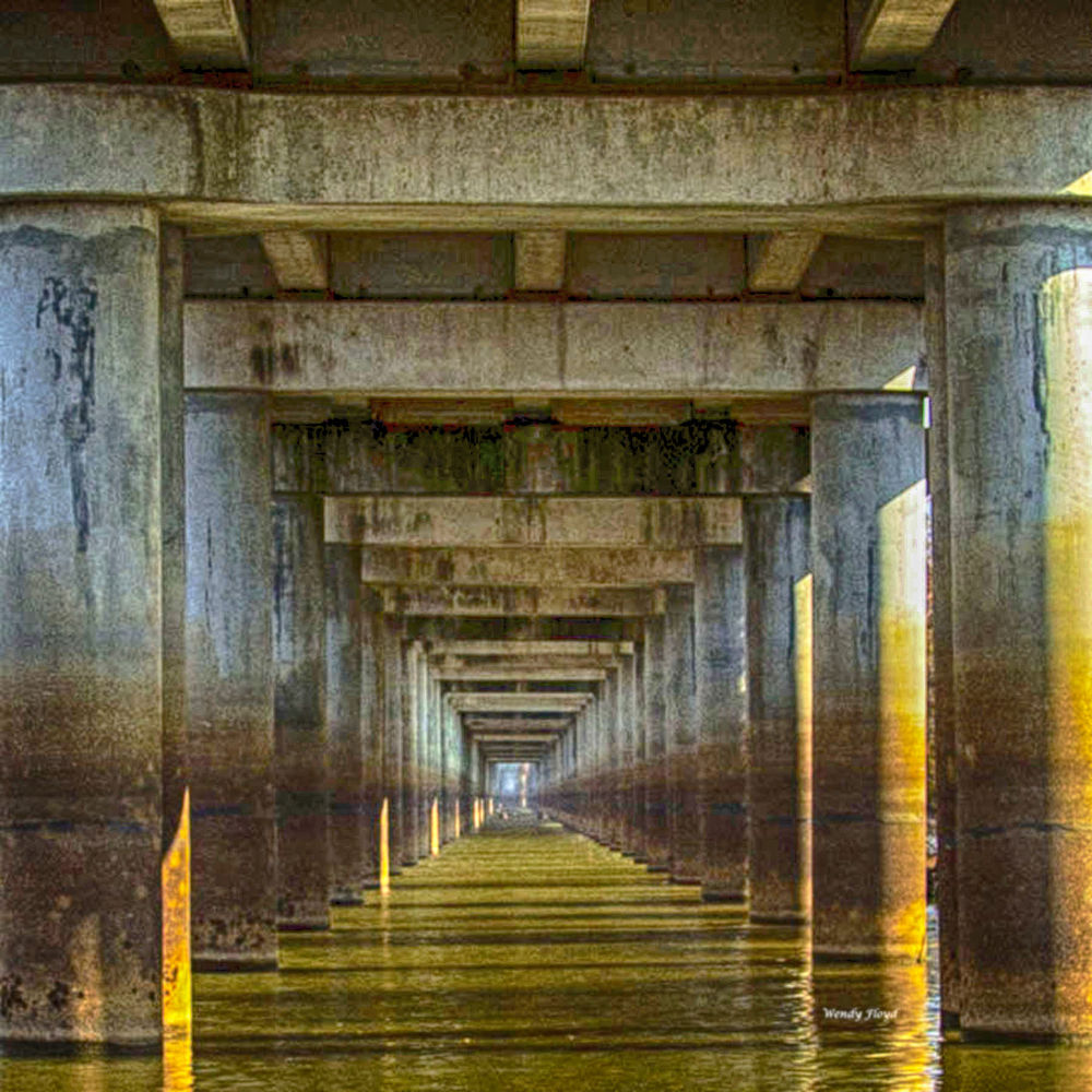 Photo in Random #bridge #tunnel #gold #water #symetrical
