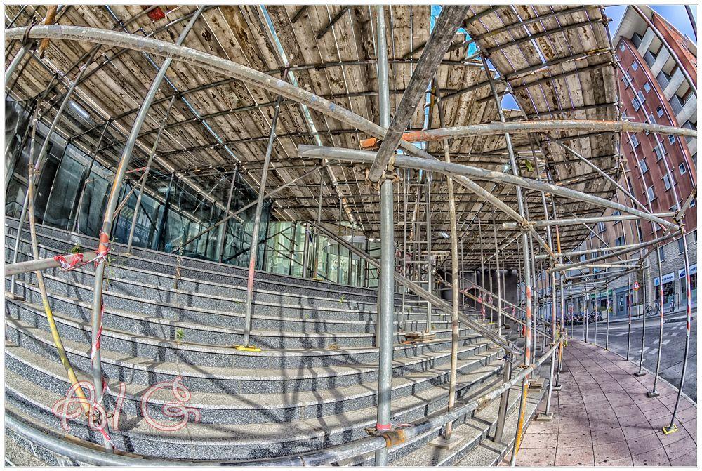 Photo in Abstract #gibraltar #scaffold #maze