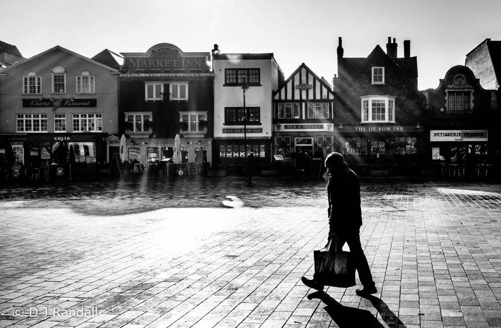 Photo in Black and White #contre-jour #contre jour #monochrome #black and white #people #urban #street #winter #city #salisbury #architecture #pub #cafe #restaurant