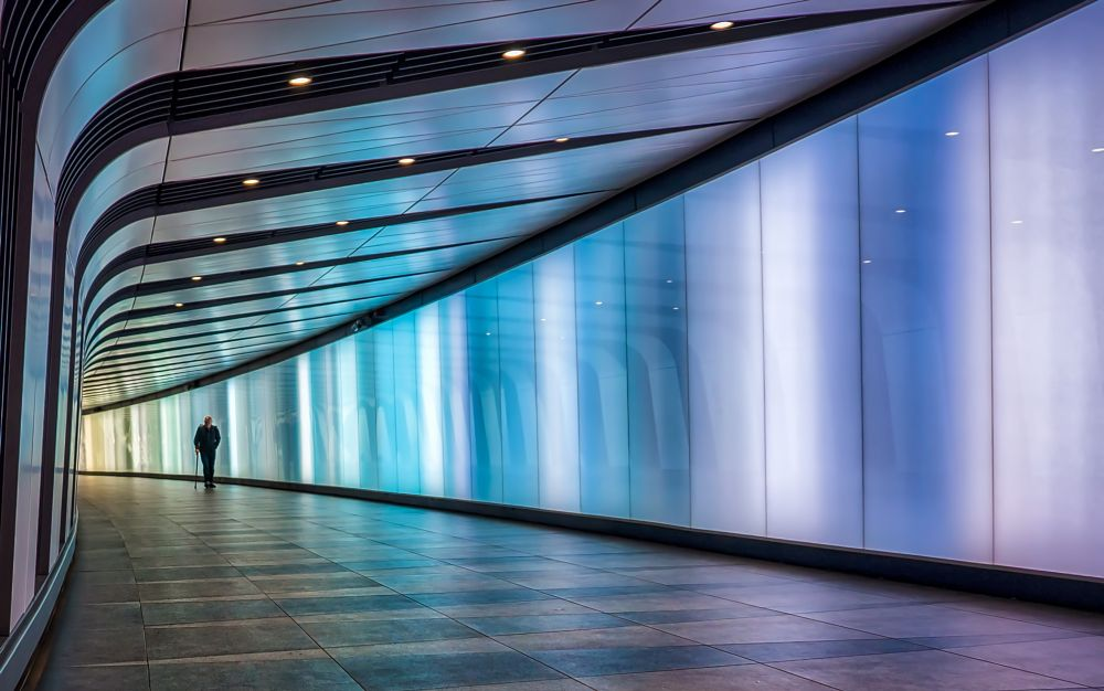 Photo in Interior #tunnel #king's cross #london #colours