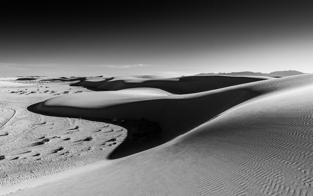 Photo in Black and White #whitesands #white #sands #newmexico