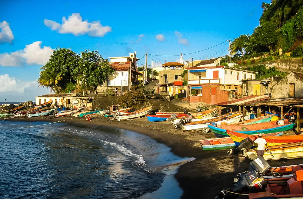 Photo in Landscape #martinique #fishingboat #village