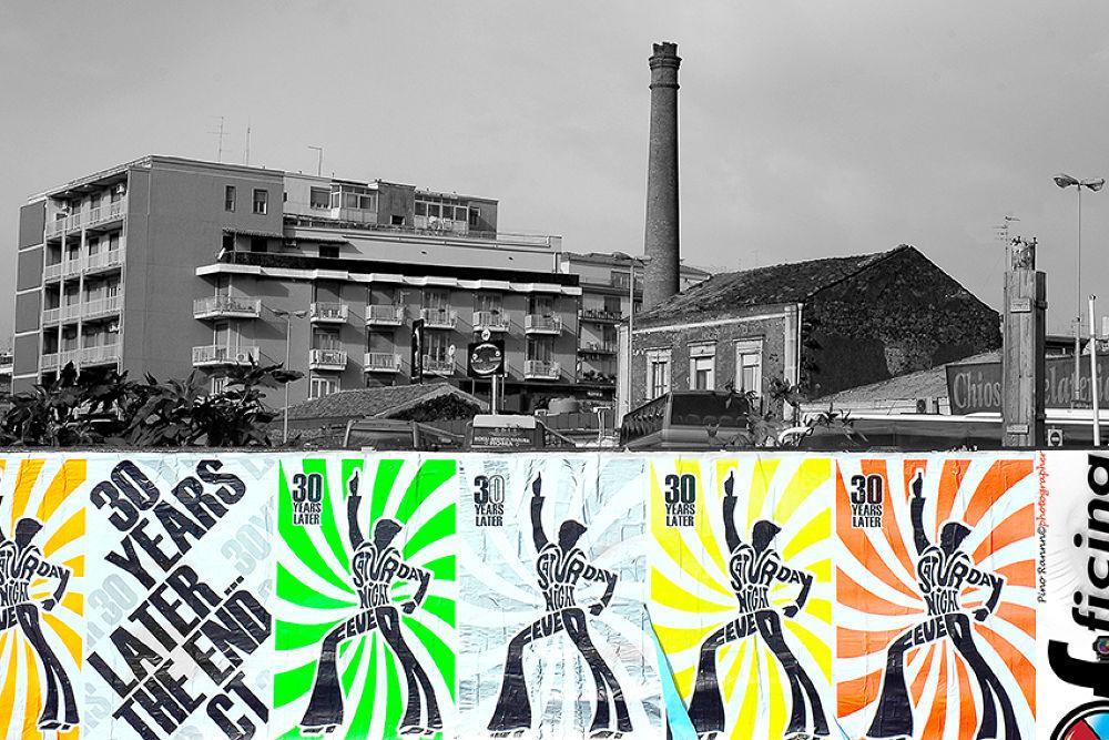 Photo in Random #b&w  color city italy