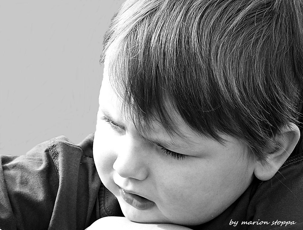Photo in Black and White #black and white #people #children