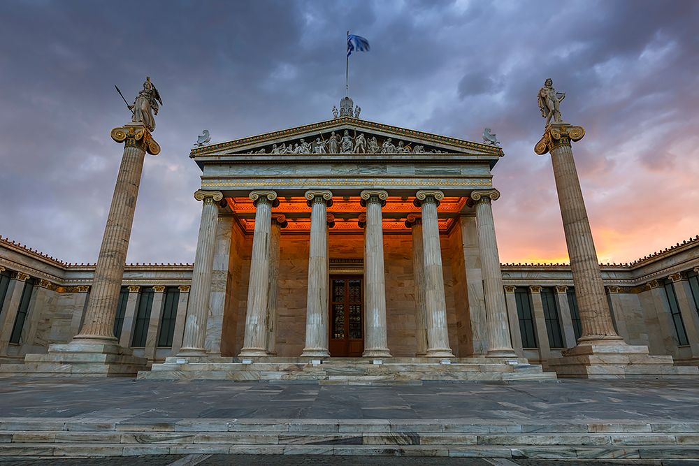 Photo in Architecture #athens #greece #city #architecture #academy #neoclassical #entrance #columns #sunrise
