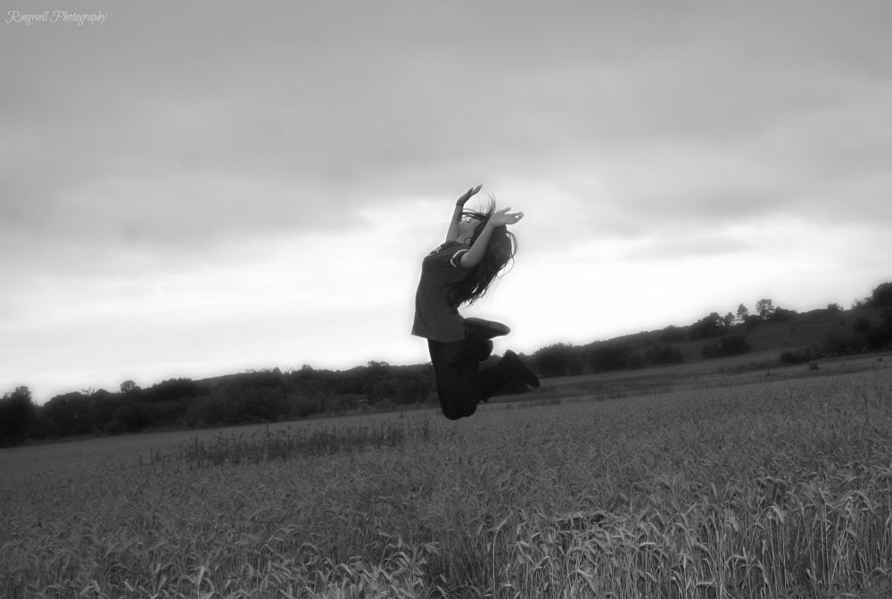 Photo in Black and White #girl #flyaway #fly #wind #sun #sky #blackandwhite #love #life #passion #youngphotographer #14 #canon #canon30d #canoneos