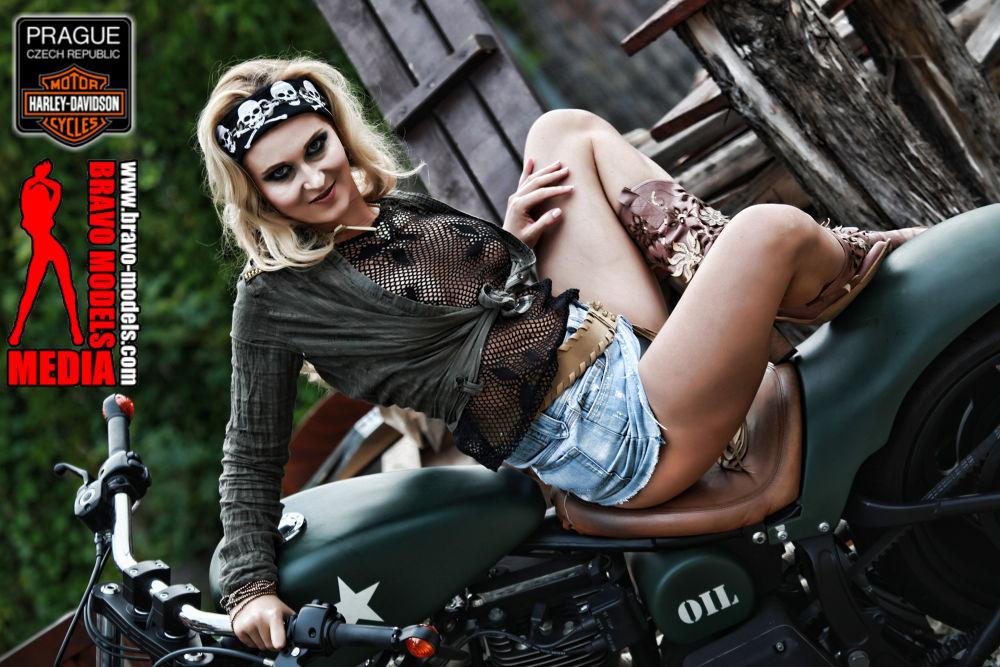 Photo in Random #bravo models media #alyssia #diamond #cute #girl #bikes #harley davidson