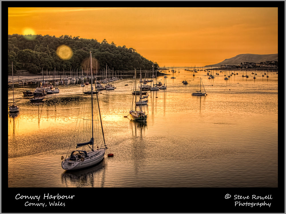 Photo in Landscape #sunset #landscape #seascape #conwy #harbour #wales #uk