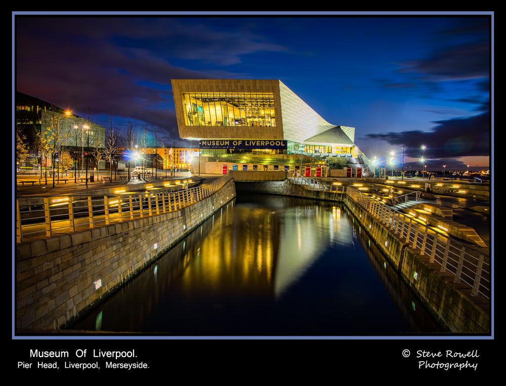 Photo in Cityscape #liverpool #museum of liverpool #nightshot #pierhead #uk #united kingdom #merseyside #cityscape