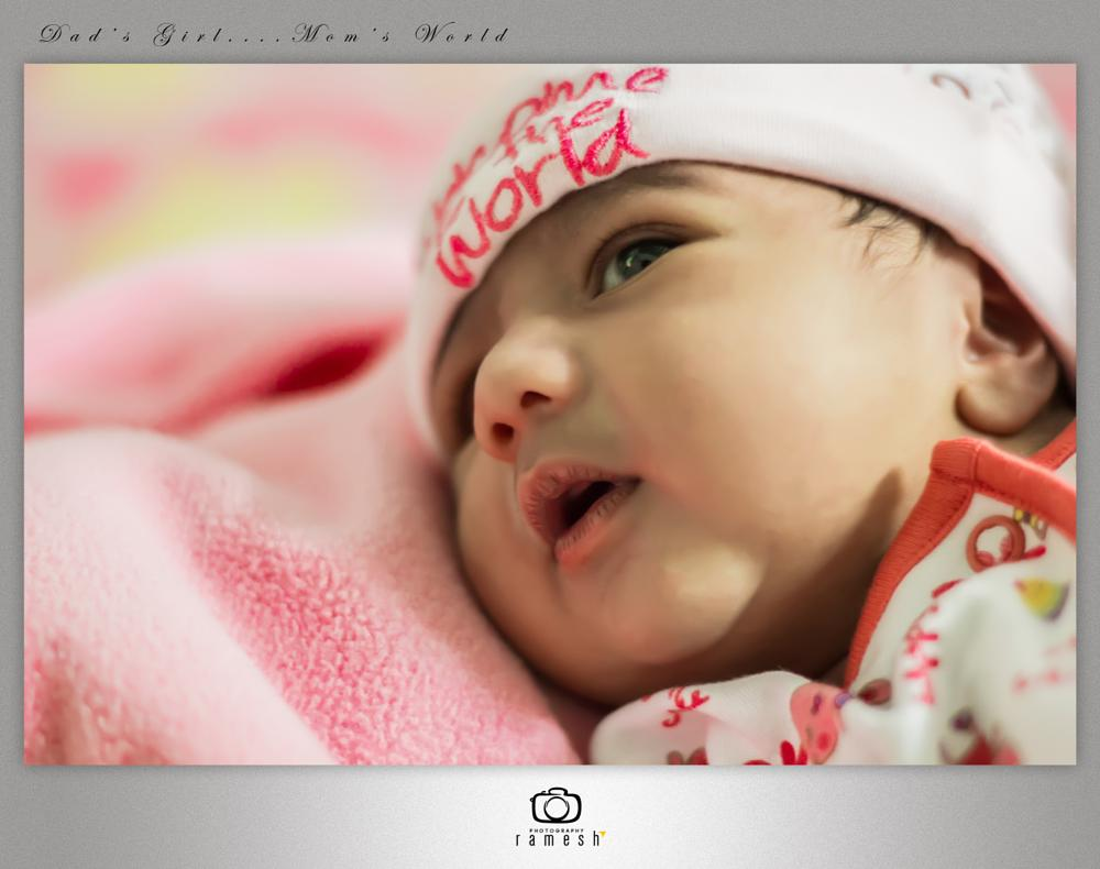 Photo in Portrait #baby #photography #new born #innocent #cute #pretty eyes #every thing small #new to world #dads girl #mom's world