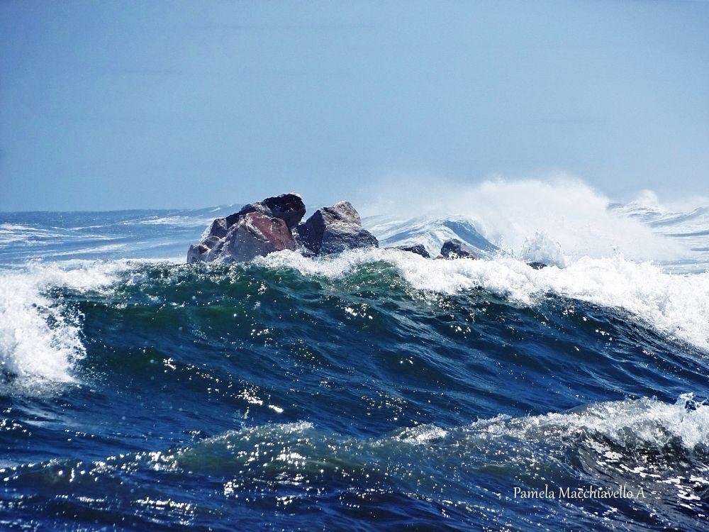 Photo in Nature #sea #wave #rock #ocean #pacific