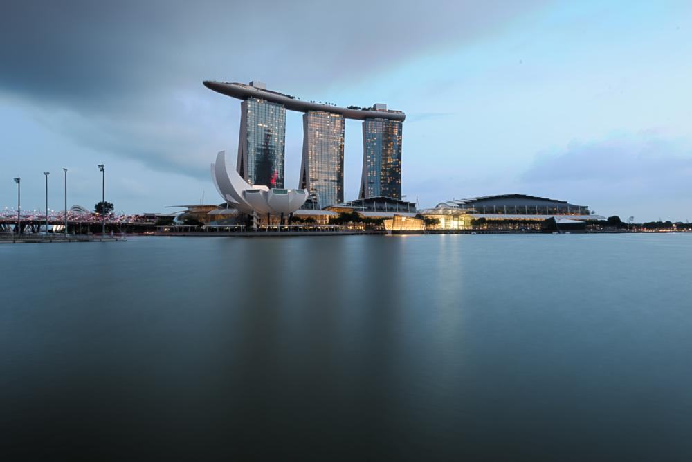 Photo in Cityscape #marina #bay #singapore #travel #water #sunset #hdr