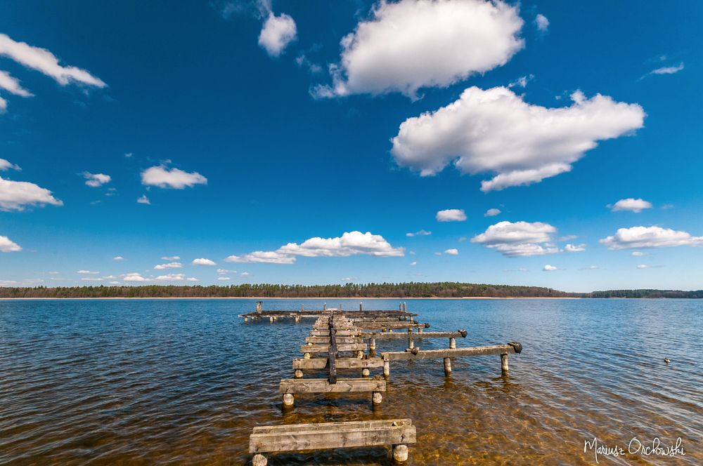 Photo in Landscape #augustów #necko lake #clouds