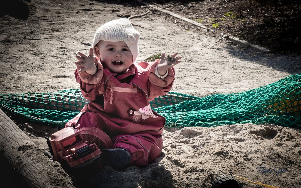Photo in Family #child #playground #sandpit #sand #toy #toycar