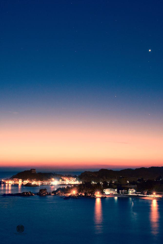 Photo in Nature #dawn #light #morning #2016 #stars #night #venus #port #harbour #harbor #south korea #asia #asian #korea #korean #sea #sunrise #early #january 1st #january #first
