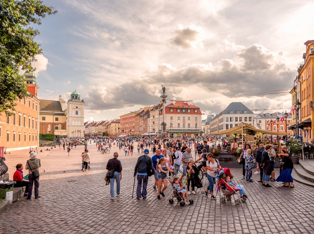 Photo in Cityscape #urban #city #building #oldtown #pedestrian #architecture #town square #warsaw #poland