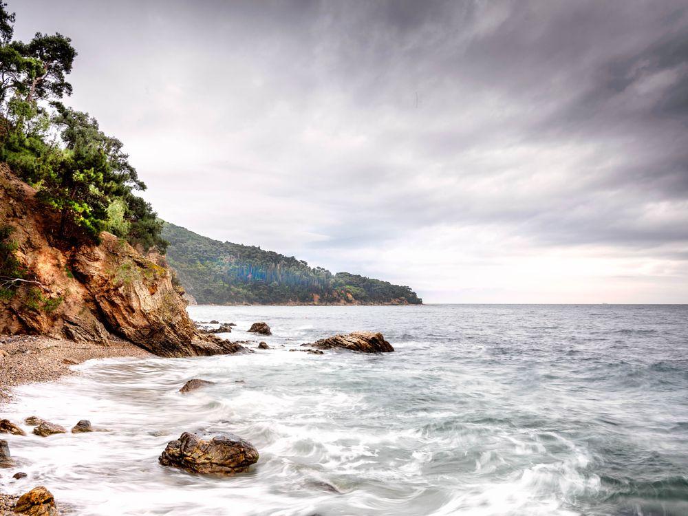 Photo in Sea and Sand #sea #rocks #clouds #sky #fuji