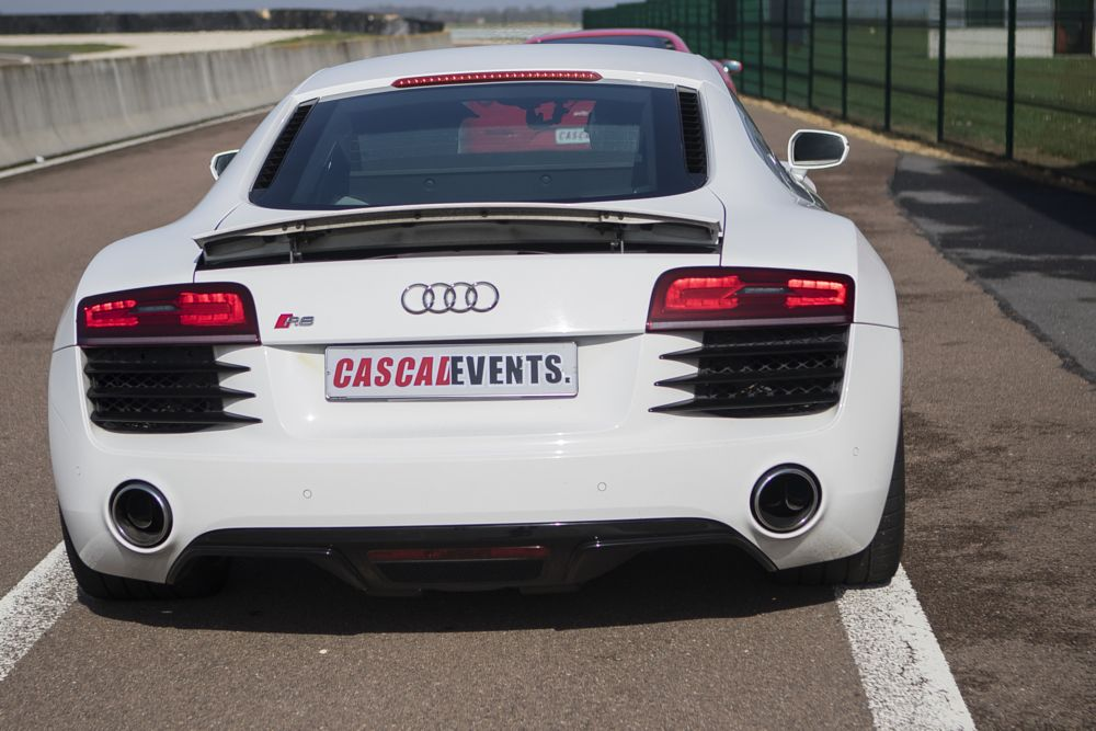 Photo in Vehicle #audi #r8 #rear #white #speed #car #vehicle